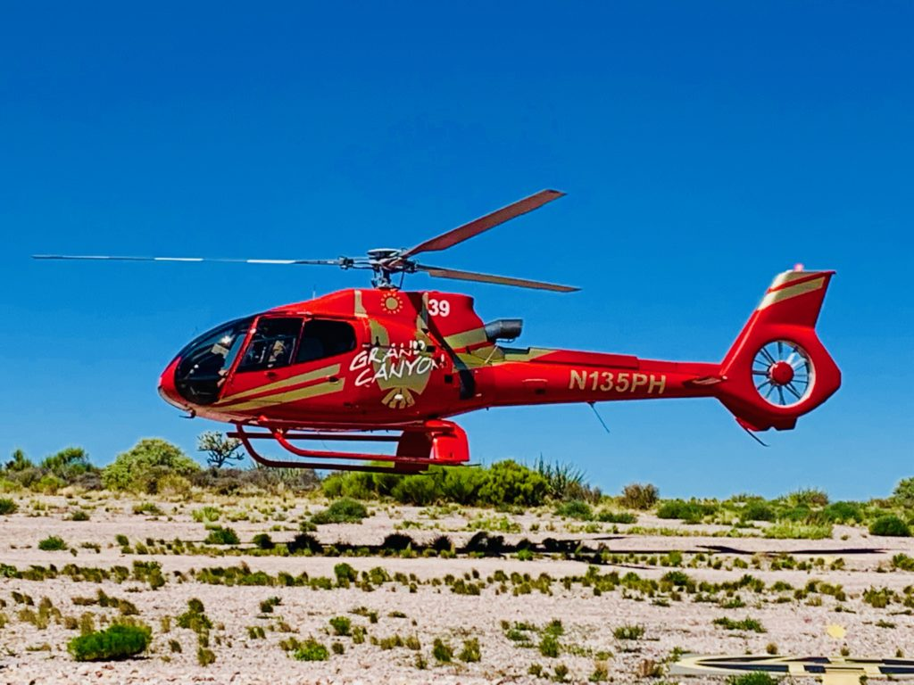 Gran cañon helicóptero
