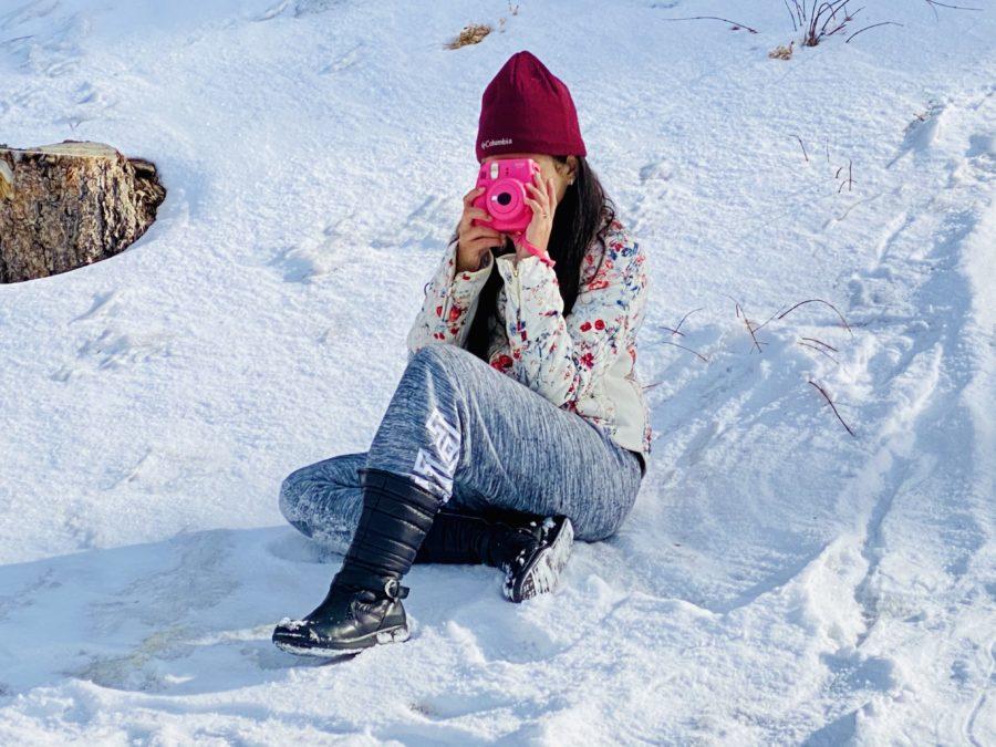 Disfrutando la nieve